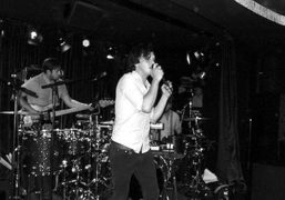 British band the Friendly Firesperformingan intimate gig at the Arts Clubtheprivate members…