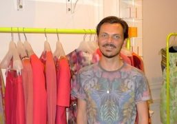 British Designer Matthew Willamson at the preview of his resort collection at…