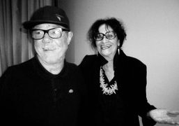 Judith Bernstein and Paul McCarthy after their discussion at the New Museum,…