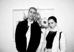 The photographer and filmmaker Theo Anthonywith the co-founder of 1:1 Gallery Whitney…