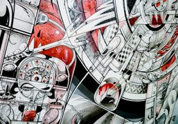 Details of 'Late Confessions' by How & Nosm at the Jonathan LeVine...