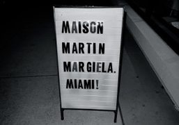 Outside of the Maison Martin Margiela store during Art Basel, 3930 NE…