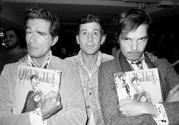 André Saraiva with Vincent Darré and Elie Top holding the new L'Officiel…