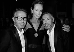 Dean and Dan Caten of Dsquared with Lady Victoria Hervey at the…