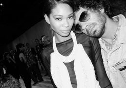Olivier Zahm and Chanel Iman at the end of Givenchy Spring/Summer 2012…