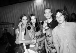 Frankie Rayder, Liv Tyler, Jack Donoghue at the end of the Givenchy…