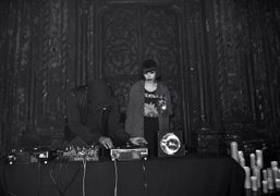Crystal Castles DJ'ing at the Bullett Magazine party last night at the…