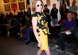 """""""Comme Des Marxists"""" fashion show by Rainer Ganahl at White Columns, New..."""