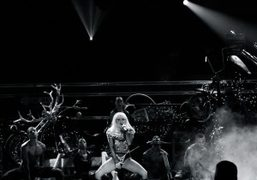 LADY GAGA PERFORMING FOR Z100's JINGLE BALL at Madison Square Garden, New...