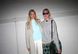Virginie and Claire Courtin-Clarins after the Rodarte F/W 2012 Show, New York….
