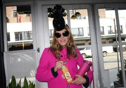 Anna Dello Russo after the Rodarte F/W 2012 Show, New York. Photo…