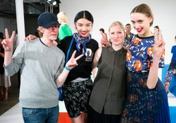 Ingvar Helgason and Susanne Ostwald at the Ostwald Helgason S/S 2014 Presentation, New York.