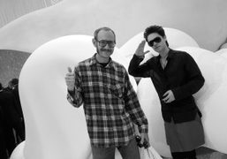 Terry Richardson and Jared Letoat the Chanel Spring/Summer 2012 show, Grand Palais….