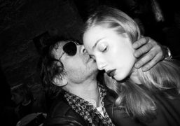 Olivier Zahm and Italian model Eva Riccobono after the Francesco Scognamiglio F/W 2013…