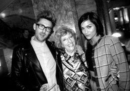 Henry Holland with his mom and Leigh Lezark at the after show…