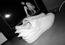 The new Hussein Chalayan's sneakers that Hussein send me this morning, Paris….