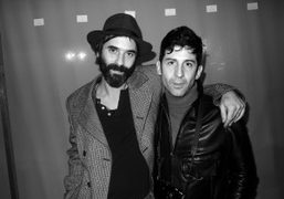 André Saraiva and a friend after the Dior Hommes F/W 2012 Men's…