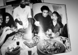 A picture of Azzedine Alaia serving dinner to his friends, from Six, the…