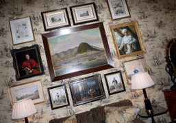Eccentric English chic in the lobby of The Savoy Hotel, London. Photo…