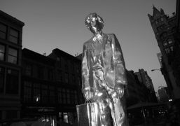 Rob Pruitt's The Andy Monument in Union Square, New York. Photo Olivier…