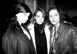 Lily McMenamy, Natacha Ramsay-Levi and Masha Orlov after the Rue Du Mail…