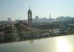 A view from the Armani Hotel on a sunny day, Milan. Photo…