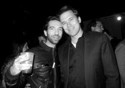 Alexis Dahan and Christopher Bollen atDasha Zhukova'sparty during Art Basel at the…