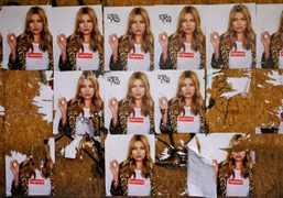 Kate Moss for Supreme posters plastered all over the city, New York….