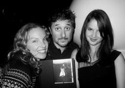 Rita Ackermann, Harmony and Rachel Korine after their sold out book signing at…