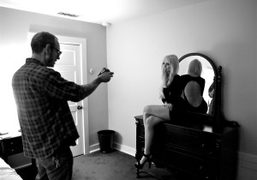 Terry Richardson shooting Lindsay Lohan in Bungalow 1 at the Chateau Marmont…