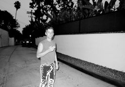 André Saraiva outside of the Beverly Hills Hotel, Los Angeles. Photo Olivier Zahm