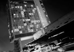 View of The Standard Hotel at night, New York. Photo Olivier Zahm