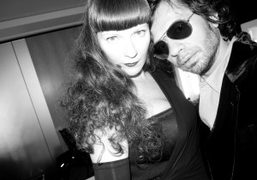 Betony Vernon and Olivier Zahm at Canal+ studios for the filming of…
