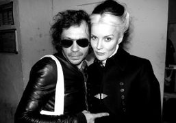 Olivier Zahm and Daphne Guiness after the Gareth Pugh F/W 2012 show, Paris. Photo…