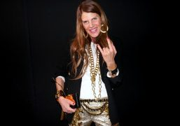 Anna Dello Russo after the Mugler F/W 2012 Show, Paris. Photo Olivier Zahm