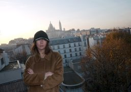 Camille Bidault Waddington(just back from NY) on the balcony of Christophe Brunnquell's…