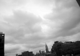 A cloudy view from my room at The Standard Hotel, New York….