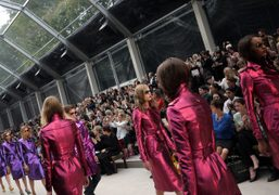 The finale of the Burberry Prorsum S/S 2013 show at Kensington Gardens,...