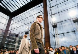 Louis Vuitton Men's F/W 2014 show at the Serres du Parc André...