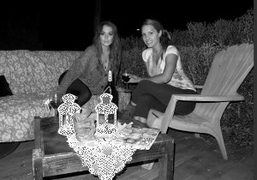 Lindsay Lohan andTenille Houston on the set of The Canyons by Bret…