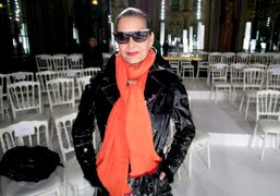 Maria Luisa after the Moncler Gamme Rouge F/W 2013 show, Paris. Photo…