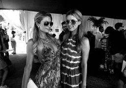 Paris Hilton and Nicky Hilton at the DVF loves Evian luncheon at…
