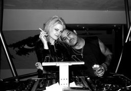 Alison Mosshart and Nur Khanat theMorrison Hotel Gallery Party hostedby the Electric…