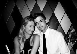 Paris Hilton and River Viiperi at the Wall for the Dom Perignon…