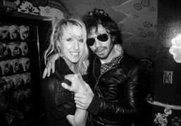 Olivier Zahm and a party girl at Le Bain, The Standard Hotel,…