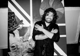 Domingo Zapata at the SLS hotel for his art opening of digital…