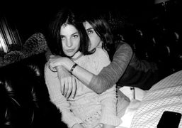 Julia and Carine Roitfeld having dinner with me at The Standard Grill,…