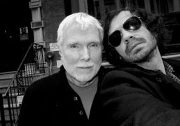 The best Purple contributor Glenn O'Brien and me, outside The Smile after…
