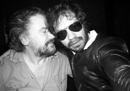 My friend the French ultra chic writerSimon Liberati and me at Davé,…