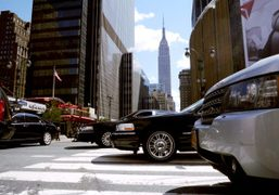A view of the Empire State Building on 33rd St, New York.Photo…